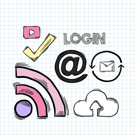 Login access to the internet