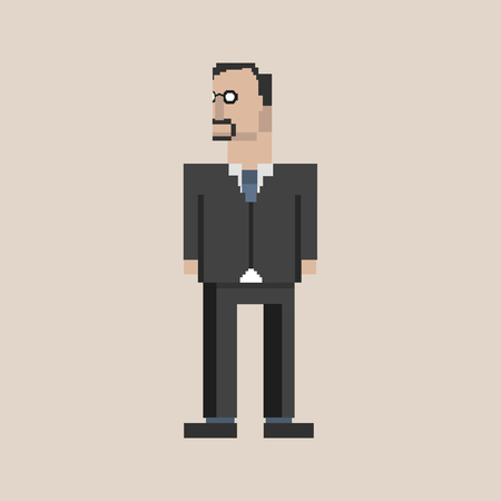 Pixelated businessman concept