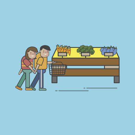Illustration set of supermarket Imagens - 96683348
