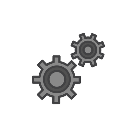 Cogwheel icon concept Stock Photo
