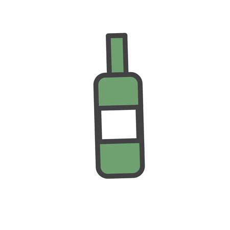 Illustration of wine bottle Banco de Imagens - 96683356