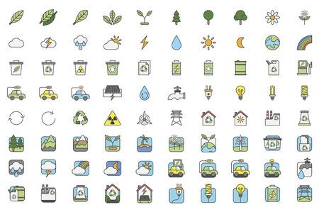 Illustration set of environmental Banco de Imagens - 96683391