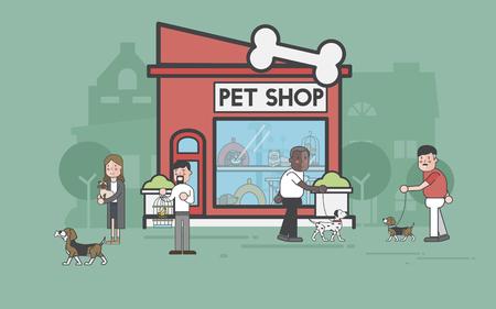 Illustration set of pet shop Stok Fotoğraf - 96683397