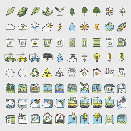 Illustration set of environmental Banco de Imagens - 96683404