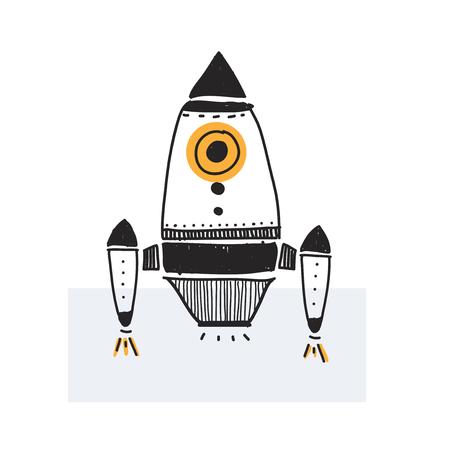 Illustration of rocket