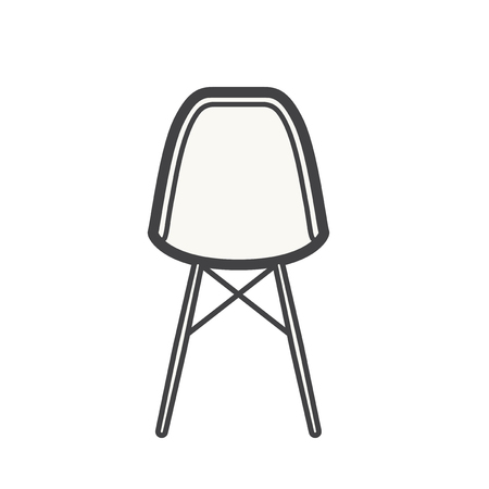 White chair concept 스톡 콘텐츠