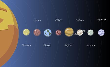 Illustration of solar system 写真素材