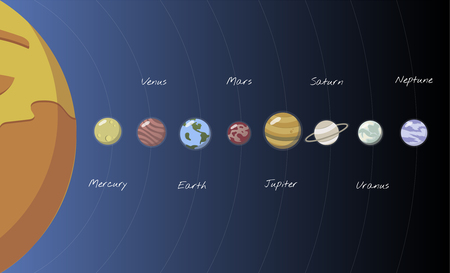 Illustration of solar system Archivio Fotografico - 96683506