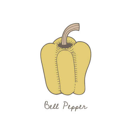 Illustration of a bell pepper Stockfoto