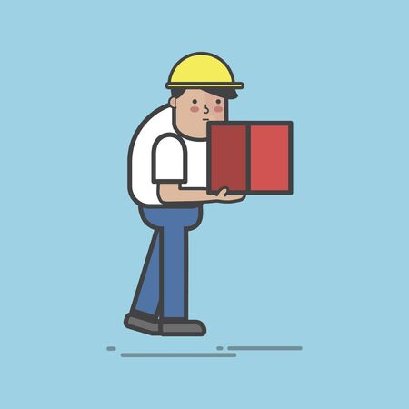 Illustration of logistics service set