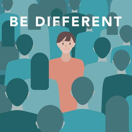Ilustración 'Sé diferente' Foto de archivo - 96684016