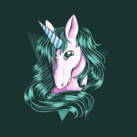 Illustration of a Unicorn Imagens