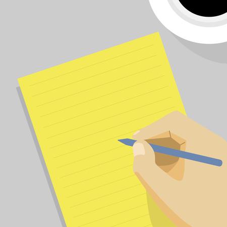 Writing concept Stok Fotoğraf