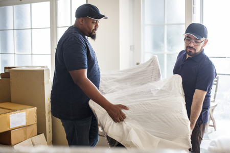 Furniture delivery service concept Banco de Imagens