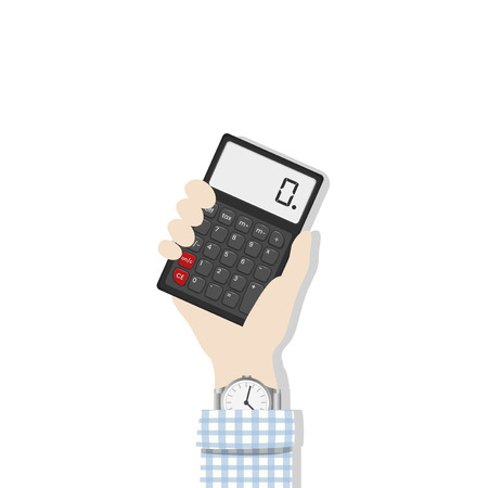 Hand holding a calculator Stockfoto