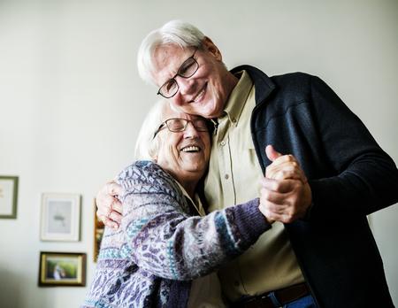 Senior couple dancing Stockfoto