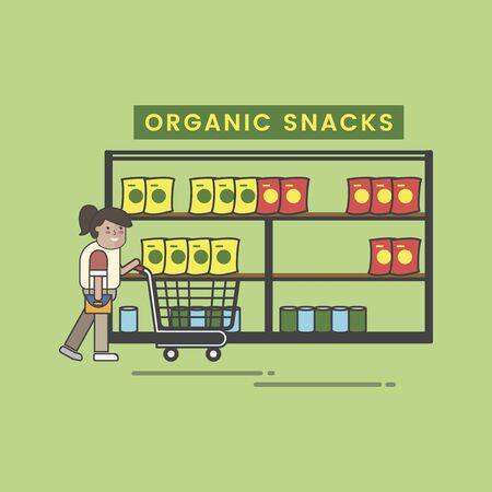 Conjunto de ilustración de supermercado Foto de archivo - 97156015