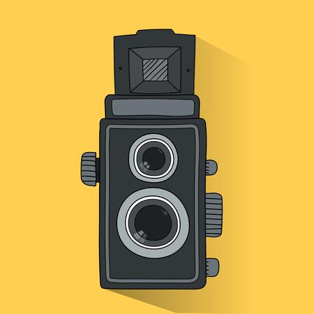 아날로그 필름 카메라의 일러스트 스톡 콘텐츠 - 97156016
