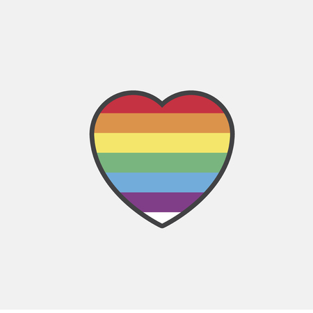 Illustration of LGBT heart icon Фото со стока