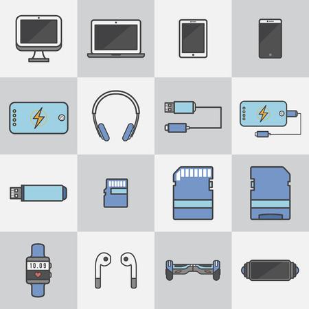 Illustration of media devices