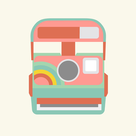 Illustration of an instant camera