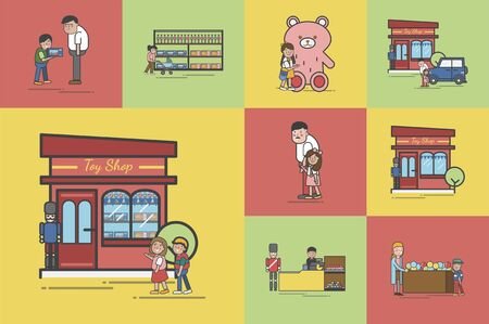 Illustration of toy store 스톡 콘텐츠 - 97155958