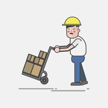 Illustration of logistics service  写真素材