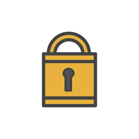 Illustration of lock icon Stock Photo