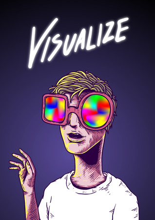 Visualize Word Illustration Drawing Concept