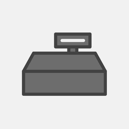 Illustration of cashier machine icon Stock Photo