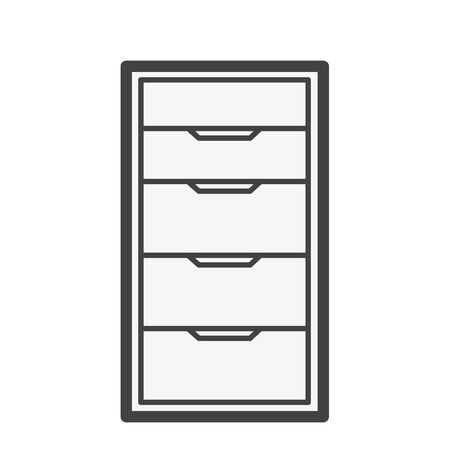 Illustration of document drawer Imagens - 97155092
