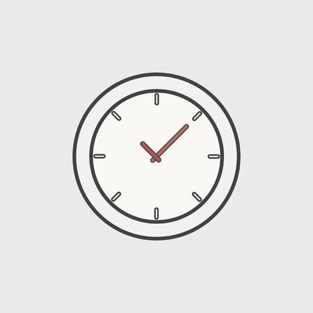Illustration of clock icon Stok Fotoğraf
