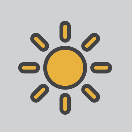 Illustration of a sun Stock Photo