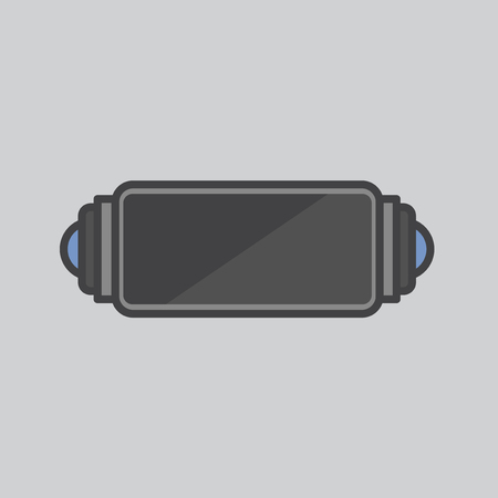 Illustration of a handheld gaming device