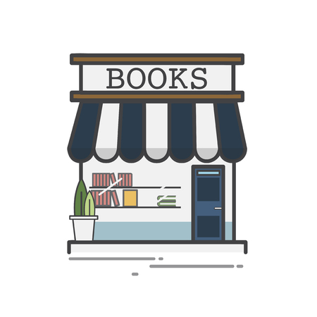 Illustration of book store  Stock Photo