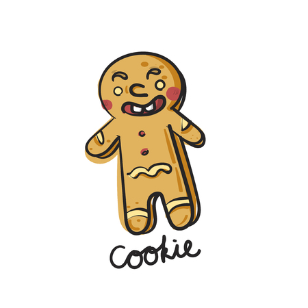 Illustration drawing style of cookie