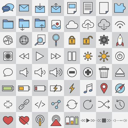 Assorted media icons