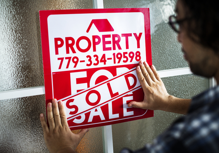 Man sold the house Stok Fotoğraf