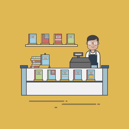 Bookstore cashier
