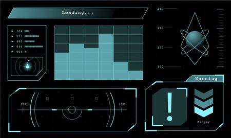 illustration of futuristic computing diagram Stockfoto - 97154606