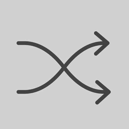 Shuffle icon Stock Photo
