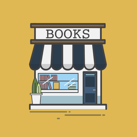 Illustration of a book store Stock Photo