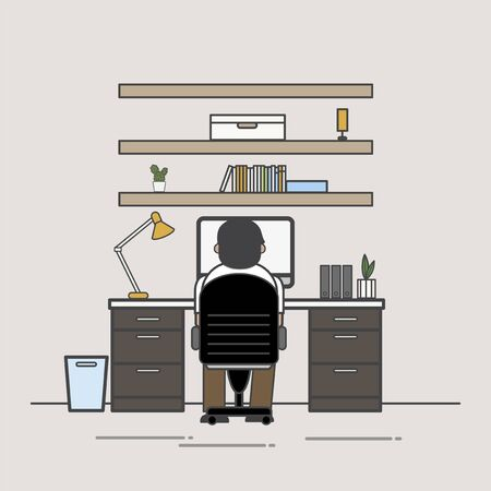 Illustration of office worker avatar 版權商用圖片