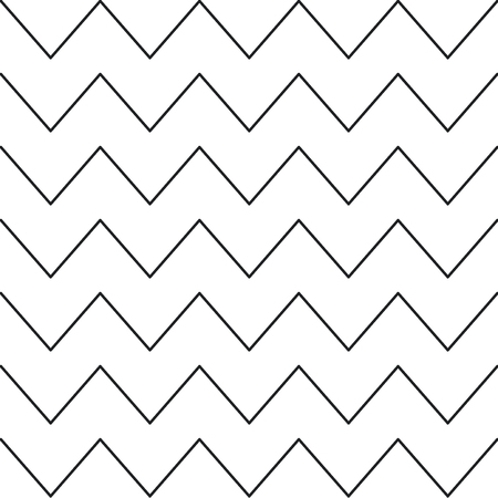 Seamless pattern of various lines and zigzags Stock Photo