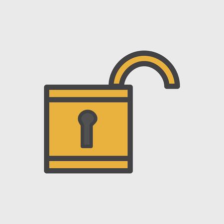 Illustration of lock icon Stock Photo
