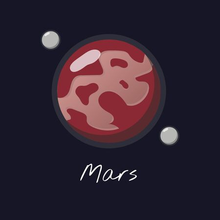 Illustration of solar system 스톡 콘텐츠
