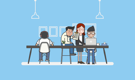 Illustration of business people avatar Фото со стока