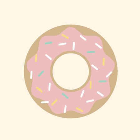 Illustration of a donut Archivio Fotografico - 116689401