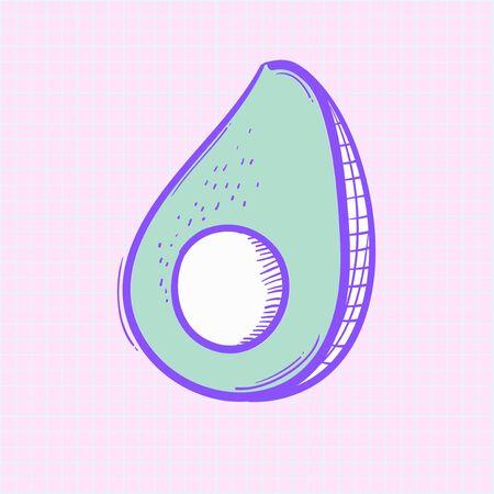 Illustration of avocado isolated on background Stock Photo
