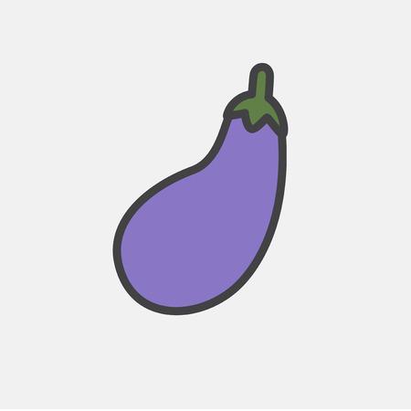 Illustration of raw vegetable icon